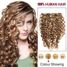 Cheap curly clip in human hair extensions uk markethairextension uk 16 inches golden brown 12 7pcs curly clip in indian remy hair extensions pmusecretfo Choice Image