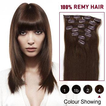 22 medium brown4 7pcs clip in human hair extensions 22 inches medium brown4 7pcs clip in human hair extensions pmusecretfo Choice Image