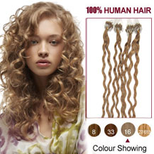 Curly micro loop hair extensions next day delivery micro link 16 inches golden blonde 16 100s curly micro loop human hair extensions pmusecretfo Choice Image