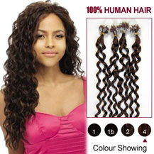 Curly micro loop hair extensions next day delivery micro link 16 inches medium brown 4 100s curly micro loop human hair extensions pmusecretfo Images