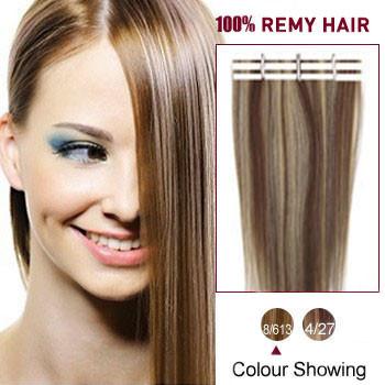 18 brown blonde 8613 20pcs tape in human hair extensions 18 inches brown blonde 8613 20pcs tape in human hair extensions pmusecretfo Gallery